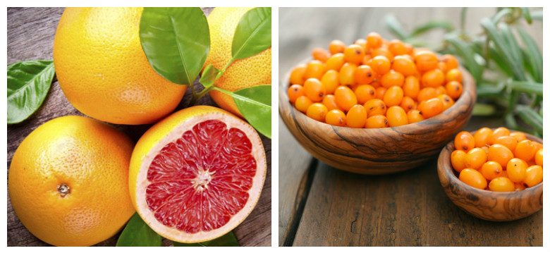 грейпфрут и облепиха