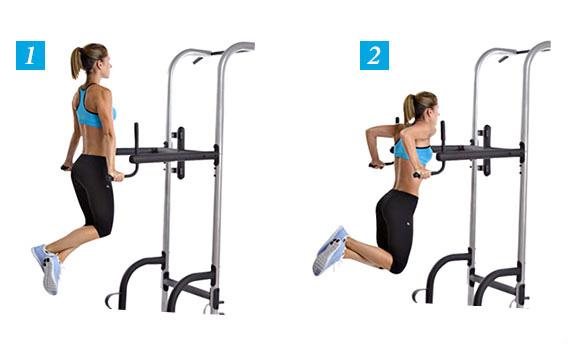 Тренировка с гантелями для спины