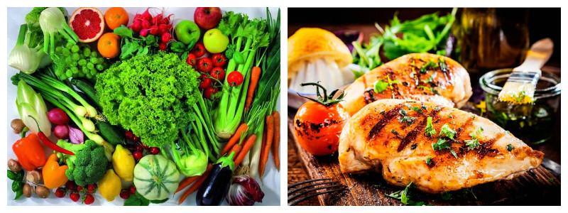 Белки и овощи